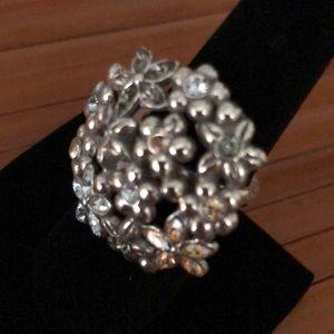 Brighton flower bouquet ring. Size 8